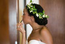 natural hair wedding hairstyle