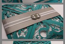 teal and silver wedding invitations little one