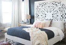 Bedrooms / Design and decor ideas for the master bedroom.  Bedding, paint colors, DIY projects, dresser and more.