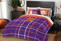 Clemson Tigers Merchandise, Bedding, Decor & Gifts / Clemson Tigers Bedding and  Merchandise are awesome ways to decorate your home & office to create your own Tigers fan zone in your bedroom, kid's bedroom, game room, study, kitchen, living room, and even the bathroom. Also magnificent as Clemson fan gifts. Clemson Tigers fans - Show off your team spirit today!