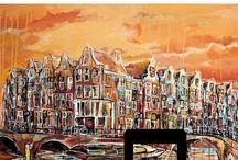 Kunstroute Amsterdam / Interactieve kunstroute Amsterdam langs de schilderijen van Matthijs de Wit. Al slenterend laat ik mij als schilder graag inspireren door de architectuur en dynamiek van de stad. Aan de hand van twee mooie  routes wandelt u langs de 15 schilderijen die ik in Amsterdam gemaakt heb en kunt u ervaren hoe het is om als schilder onze hoofdstad te ontdekken!