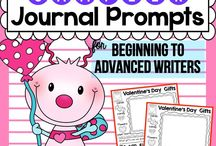 Journal Writing / Journal Prompts for Beginning, Intermediate and Advance Writers { Kindergarten and First Grade }