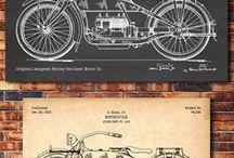 Patentes de motos antiguas