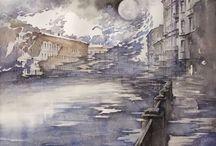 Paintings / Paintings. Oil, watercolor, ink.
