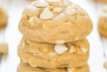 Orange cream white choco cookies