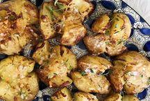 Knuste kartofler med parmesan