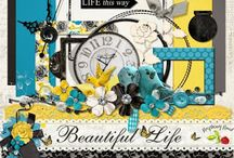 Beautiful Life Collection / A LIFE themed digital scrapbook collection.