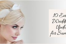 10 Easy Wedding Updos for Summer / Whether you're doing your hair yourself or hiring someone, we've kept them simple because those simple hairstyles are easy to do and still romantic and chic.  http://www.kimberleyandkev.com/10-easy-wedding-updos-for-summer/