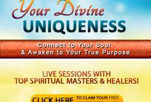"""Your Divine Uniqueness 01 / Our new online event """"Your Divine Uniqueness"""".  Connect to Your Soul & Awaken to Your True Purpose. Live sessions and Q&A with spiritual masters and healers. Register NOW for FREE & Get INSTANTLY your """"Infinite Energy Kit"""" ==> http://yourdivineuniqueness.com"""