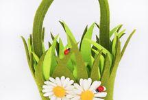 canastas con flores