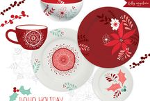 A table for Holiday / Gorgeous holidays plates