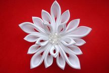 Flores Kanzashi / hacer flores de Cintas o telas para accesorios de cabello. / by Rosa Baladron