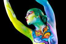 Bodypaint / Trabajos de la academia de maquillaje y caracterización Look Art Studio