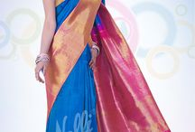 Kanjeevaram Saree / A Kanjeevaram saree is a must have in every Indian woman's closet and what makes it so desirable is the colour of Indian heritage which is displayed in these sarees.