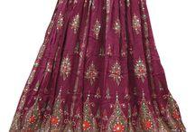 Sequin Rayon Skirt