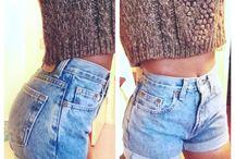 High waisted shorts, shorts