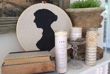 Jane Austen inspiration / Inspirações de decoração com o tema Jane Austen