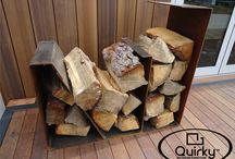 Innovative Fireplace Wood Storage / New and interesting ways to store firewood