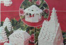 Házikók horgolva karácsonyra