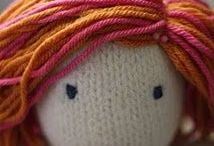 hair for knitted doll