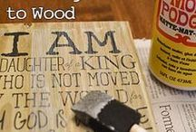 mod Podge transfer wood