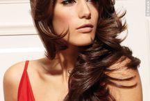 Cheveux longs brun