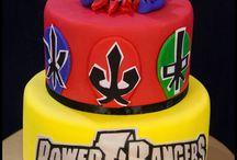 Gâteau power ranger