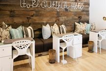 beauty salon decor