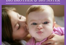 Big Brother & Big Sister Ideas / A new baby in the family doesn't just affect mom & dad. Big brother or big sister to be are going to fill a new role. Make it a positive transition by making this an exciting time for them too.