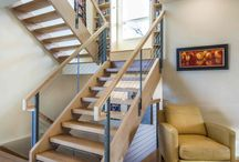 Stair Cable Railing / Ultra-tec stainless steel cable railing systems can easily be used on staircases as a means of safety and to create an open feeling for any living area.