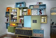 Recycled Drawers - Inspiration For Your Home / Pondering on how I was going to reuse some old drawers, I was inspired to create this board whilst searching the net. I was blown away with the ingenious solutions that I came across & grouped them all here.