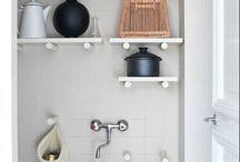 Laundry Closet Design / Small laundry space interior design inspirations