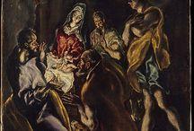 ΠΙΝΑΚΕΣ EL GRECO (Domenikos Theotokopoulos / Ο Δομήνικος Θεοτοκόπουλος, γνωστός επίσης με τo ισπανικό προσωνύμιο El Greco, δηλαδή Ο Έλληνας, ήταν Kρητικός ζωγράφος, γλύπτης και αρχιτέκτονας της Ισπανικής Αναγέννησης. Βικιπαίδεια Γέννηση: 1541, Βασίλειο της Κρήτης Απεβίωσε: 7 Απριλίου 1614, Τολέδο, Ισπανία Γονείς: Γεώργιος Θεοτοκόπουλος Παιδιά: Γεώργιος Εμμανουήλ Θεοτοκόπουλος Αδέρφια: Μανούσο Θεοτοκόπουλο
