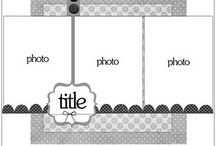 Scrapbooking Sketches / Single and double-page sketches for scrapbook layouts and pages. / by Rebecca | Pictures to Scrapbook