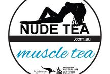 """Muscle Tea / """"This organic muscle tea blend will get you maxing out your next workout. Oolong tea with ashwagandha root, Siberian ginseng, peppermint leaf, and Acai berry powder."""""""