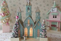 Dream'n of a PINK Christmas / My husband would freak out if I decked our house out in aqua and pink for Christmas. I guess I'll just have to stick to decorating my dollhouse ;) / by Amber Young