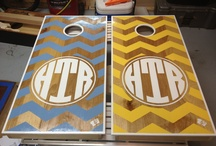 O U T D O O R - G A M E S / Cornhole & Washer boards that I have made.