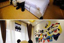 Unique hotel rooms
