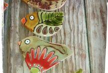 pajaros ceramica