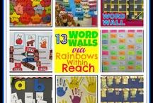 prek word walls