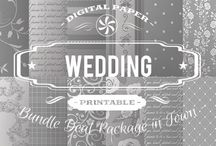 WEDDING PAPERS / DIGITAL PAPERS - WEDDING PAPERS  BY DIGITAL PAPER SHOP