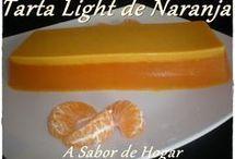 tartas de naranja.