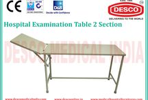 Examination Table Manufacturers India / We are Offering you a complete choice of examination tables in India which has two sections and adjustable head flap and ratchet. We offer tables at most feasible rates in market.