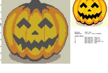 Schemi punto croce ricamo per Halloween / Schemi punto croce ricamo per Halloween, tutti gratuiti.