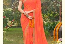 Zever / Get georgette, chiffon embroidery saree from Laxmipati Sarees