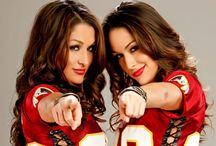 The Bella Twins / Theses are my favourite WWE divas Nikki & Brie Bella if you wanna follow do so they destroy like everyone in WWe
