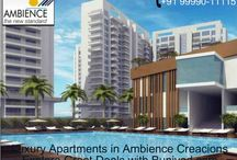 Lush Meadows and Undulating Landscapes in Ambience Creacions / Ambience group has launched their new project Ambience Creacions in the delightful city of Gurgaon. The project offers you 2 and 4 bhk apartments in different sizes.