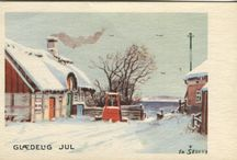 Danish Christmas Postcards / Mainly from the 1950's to date