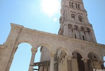 Split, Croatia / Home of Diocletian's Palace, erected by the Roman emperor in the 4th century