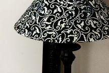 Mod podge lamp shade